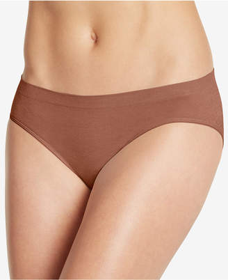 Jockey Smooth and Shine Seamfree Heathered Bikini 2186, available in extended sizes