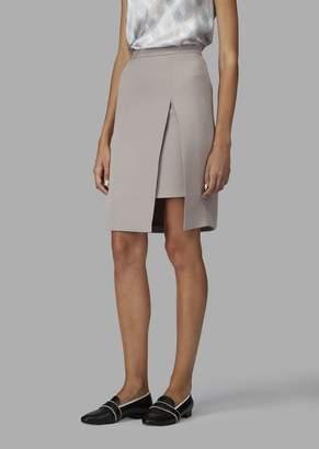 Giorgio Armani Pure Silk Asymmetric Skirt With Split