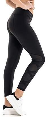 7Goals Women's Stretchy Envelope-Waistband Legging