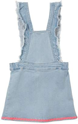 Billieblush Ruffled Stretch Denim Overall Dress