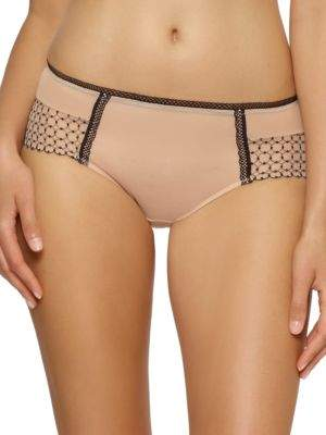 Bissette Geometric Embroidered Boyleg Panties
