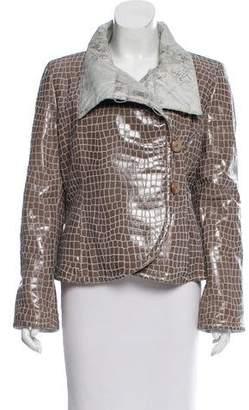 Giorgio Armani Leather Puffer Jacket