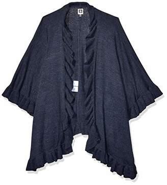 Anne Klein Women's Ruffled Sweater Cape