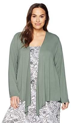Arabella Women's Plus Size Open Cardigan