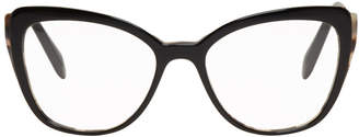Miu Miu Black and Gold Cat Eye Glasses