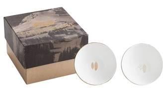 Timberline Set of 2 Porcelain Plates