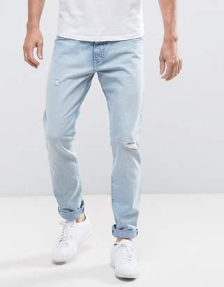 Wrangler Larston Slim Tapered Jeans Salt