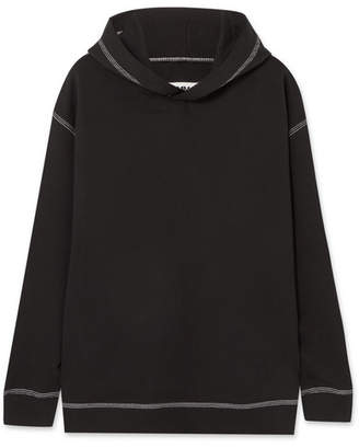 MM6 MAISON MARGIELA Oversized Cotton-jersey Hooded Top - Black