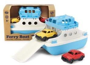 Green Toys Ferry Boat& Mini Cars Toy Set