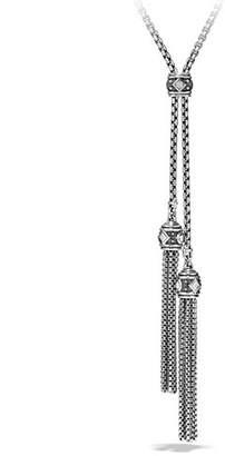 David Yurman Renaissance Pave Diamond Tassel Necklace