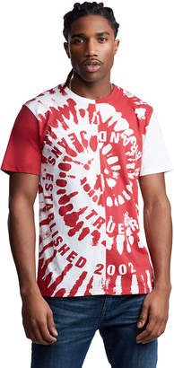 True Religion SPLIT TIE DYE TEE