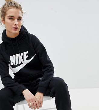 Nike Rally Logo Hoodie In Black