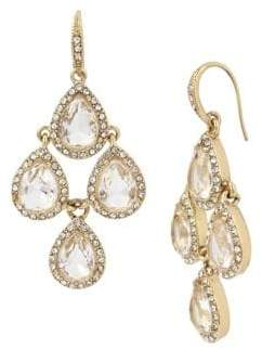 Miriam Haskell Basic Ears Crystal Chandelier Earrings