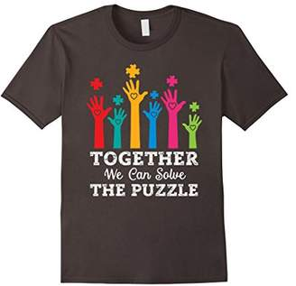 Together We Can Solve The Puzzle! Autism Awareness T-Shirt