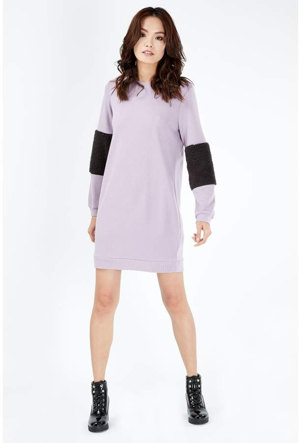 Women's Fur Sleeve Sweat Dress