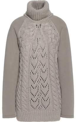Maison Margiela Paneled Stretch-Knit Turtleneck Sweater
