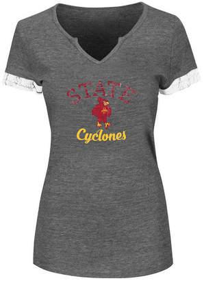 Profile Women Plus Iowa State Cyclones Sleeve Stripe T-Shirt