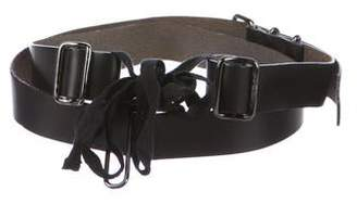 Ann Demeulemeester Leather Tassel-Accented Wrap Belt w/ Tags