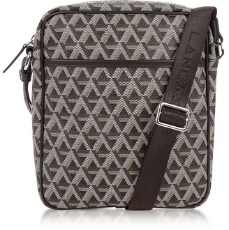 Ikon Lancaster Paris Brown Coated Canvas Men's Crossbody Bag