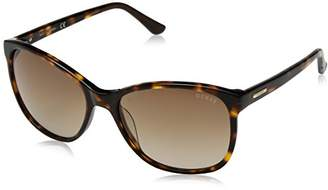 GUESS Women's Acetate Soft Cat-Eye Square Sunglasses