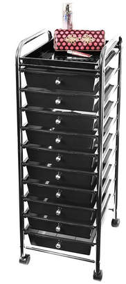 Seville Classics 10 Drawer Organizer Cart with Tray