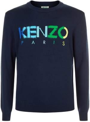 Kenzo Textured Rainbow Logo Sweater