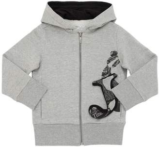 John Galliano Hooded Cotton Sweatshirt