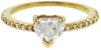 Shay Solitaire Diamond Heart Pinky Ring - Yellow Gold