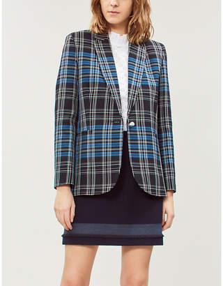 Claudie Pierlot Saxo fringed-trim woven mini skirt