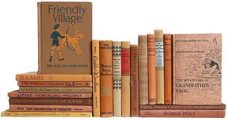 One Kings Lane Vintage Children's Neutral Book Set - Set of 20 - Booth & Williams