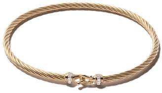 David Yurman 18kt yellow gold Cable Buckle pavé diamond bracelet