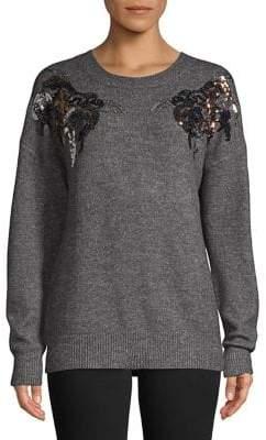 Vero Moda Embellished Long-Sleeve Sweater