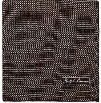 Ralph Lauren Purple Label MEN'S DIAMOND-PRINT MULBERRY SILK CRÊPE DE CHINE POCKET SQUARE