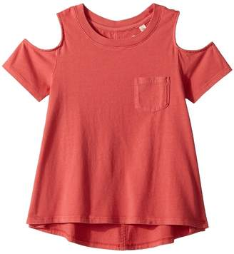 AG Adriano Goldschmied Kids Tess Cold Shoulder Top Girl's Clothing