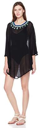 Beautiful Nomad Beach Cover up Swimsuit for Women with Colorful Pom Pom
