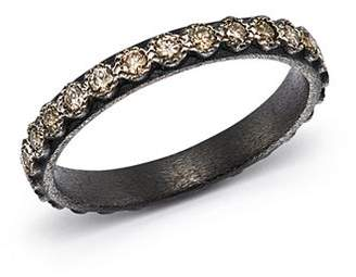 Armenta Blackened Sterling Silver Old World Diamond Stacking Ring