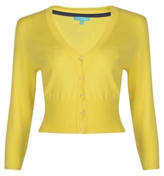 Fever Yellow 'Mariel' V-Neck Cardigan
