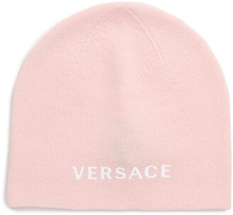 Versace First Line Logo Knit Wool Beanie