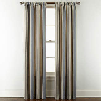 Royal Velvet Lazarro Stripe Rod-Pocket/Back-Tab Curtain Panel