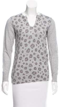 Rebecca Taylor Animal Patterned Long Sleeve Sweater
