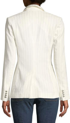 Contemporary Designer Apollo Linen/Cotton Double-Breasted Jacket