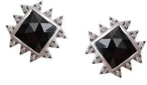 Coomi Silver Vitality Diamond, Black Spinel& Sterling Silver Stud Earrings