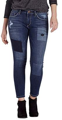 Jag Jeans Women's Mera Skinny Ankle Jean with Laser Detail in Platinum Denim