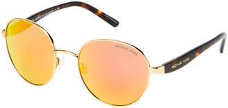 Michael Kors MK1007 Gold-Tone Sadie III Round Sunglasses