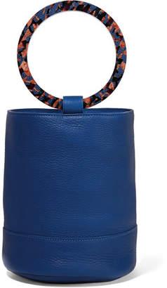 Simon Miller Bonsai 20 Textured-leather Bucket Bag - Cobalt blue