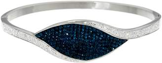 Steel By Design Stainless Steel Multi-Color Crystal Hinged Bangle