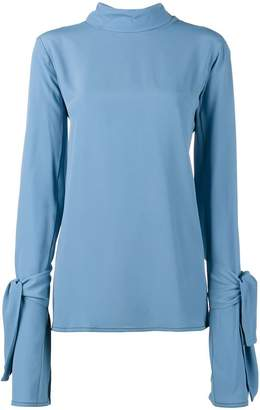 Marni tie neck long sleeve blouse