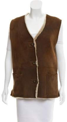 Adrienne Vittadini Suede Shearling Vest Suede Shearling Vest