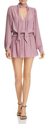 Ramy Brook Winslow Tie-Neck Mini Dress