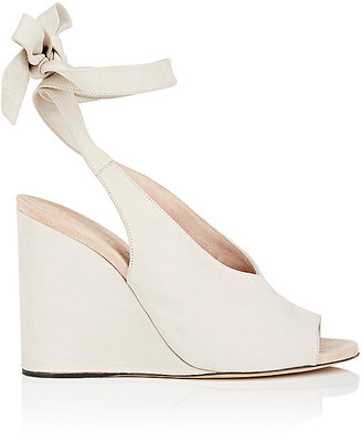 Derek Lam Women's Maude Nubuck Wedge Sandals $795 thestylecure.com